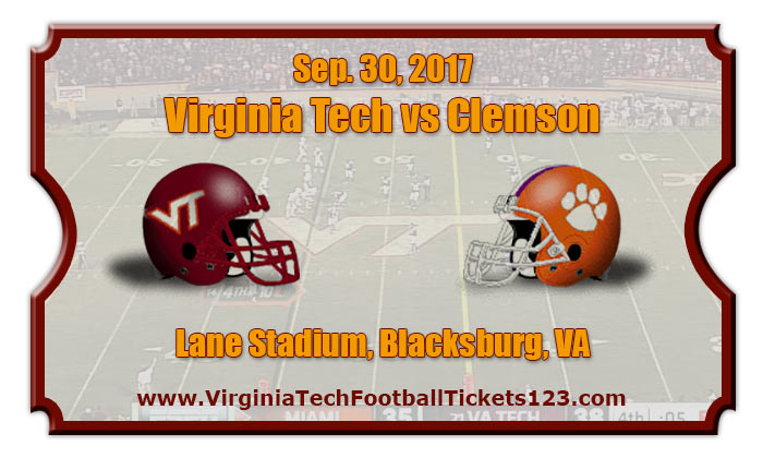 Virginia Tech Hokies Vs Clemson Tigers Football Tickets